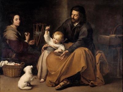 Murillo. la sagrada familia del pajarito. 3